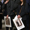 Annual commemoration of the Armenian Genocide, at Lowell City Hall. Araz Dulgarian, 17, left, and her sister Sevan Dulgarian, 24, both of Bedford. (SUN/Julia Malakie)