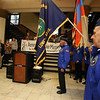 Annual commemoration of the Armenian Genocide, at Lowell City Hall. Armenian American Veterans Honor Guard including Armen Jeknavorian of Chelmsford, right. (SUN/Julia Malakie)