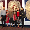 Artist Lena Gorginyan with her family.