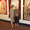 Artist Lena Gorginyan with exhibition organizer Angela Kazarian.