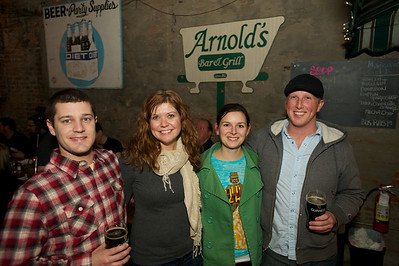 Tim Gilbertsen and Aly Leigh of Chicago with Beth Subel and Matt Hanson of Cincinnati at Arnold's Friday night for Cincy Brass
