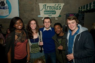 Titi, Laurie, Stephen, Collin and Matt of Cincinnati at Arnold's Friday night for Cincy Brass