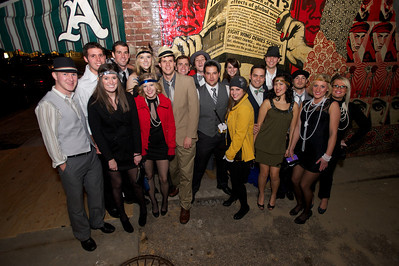 Friends gather at Arnold's Friday night for a 'Prohibition Pub Crawl'