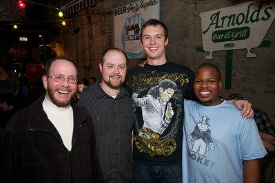 Tony, Paul, Chris and Moe of Cincinnati at Arnold's Friday night for Cincy Brass