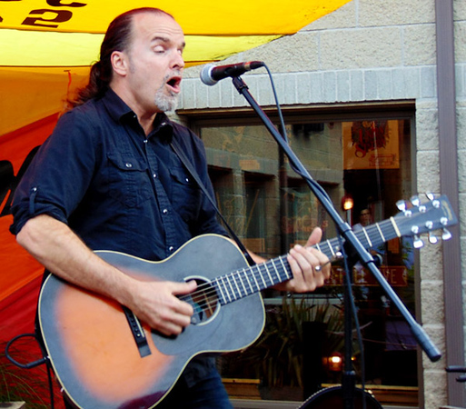 """Master guitarist Michael Kelsey, Indianapolis, got the party started at the Randy's Roadhouse patio, where drink and wings specials were available. First up during his two-hour set was Phil Collins' """"It's in Your Eyes."""" His performance was sponsored by Batesville Main Street."""
