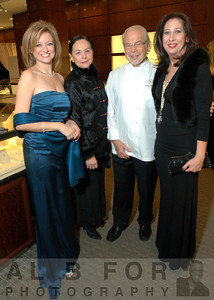 Karen Dougherty-Buchholz (Flowertown), Sibby Brasler (Event Co-Chair),  Jean-Marie Lacroix (James Beard Award-winner and Chef-Partner of Brulee Catering) with Mary K. Dougherty (Philly Nicole Miller boutique owner).