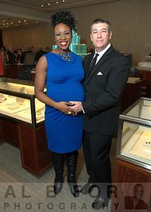 Tasha Jetter (7 1/2 months pregnant) and Chris Bender