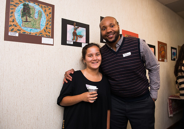 KCAD Art Ed student teacher with Forest Hills Student