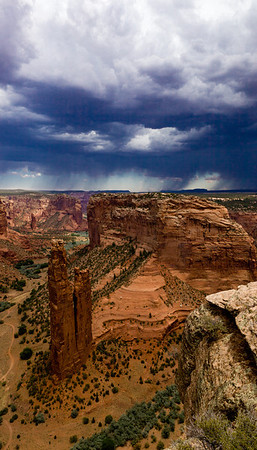 Spider Rock and the approaching storm - Canyon de Chelly, Navajo Indian Reservation, Arizona