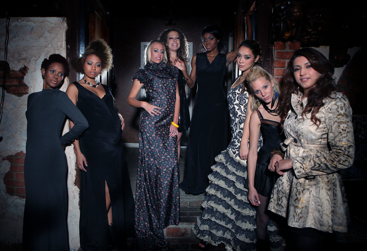 Art or Die Fashion Show modelling for Janell Clemente Clothing Designs