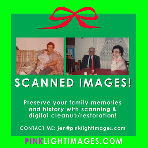 Let me help you SCAN and FIX your old pictures!  I can restore some of the old prints so you can pass them on to the newer generations.  Preserve your family history digitally.  Contact me asap to help you with your project!!!! :)