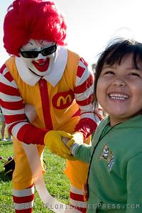 Ronald McDonald meet a new friend