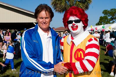 Bruce Jenner and Ronald McDonald