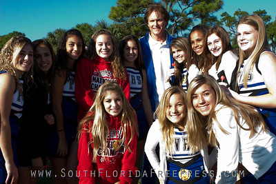 Park Vista Cheerleaders with Bruce Jenner