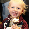 Little Benjamin enjoys Cowgirl Creamery  Creme Fraiche mini Ice cream Cone from The Lodge at Sonoma at the 2013 California's Artisan Cheese Festival's Grand Cheese Tasting on March 23rd at the Sheraton Sonoma County. This combination won the Grand Cheese Tasting Competition for 2013.