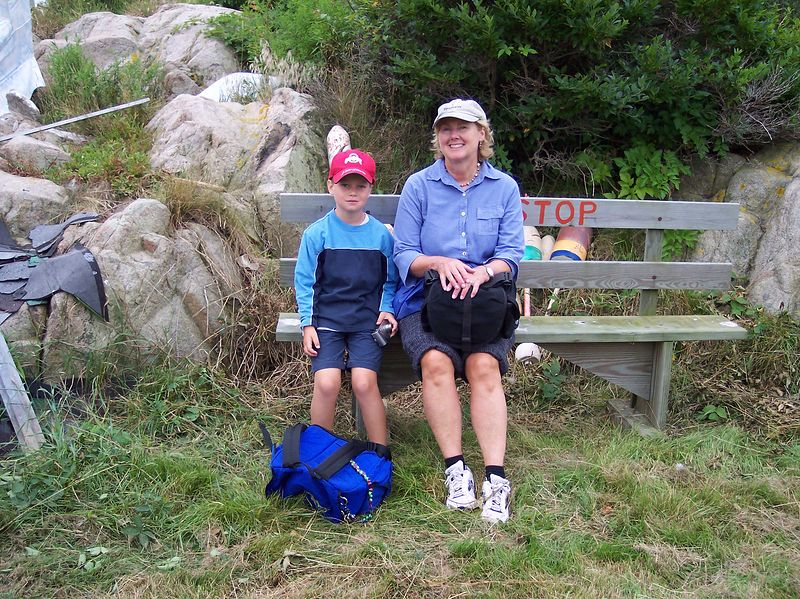 Young and old come for Artist Day on Thacher Island.