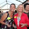 Volunteers, Nikki Shmatovich and Lisa Camporelli enjoy<br />  the evening during Arts D'Light held at The Petalma Arts Center on Saturday June 10, 2012.