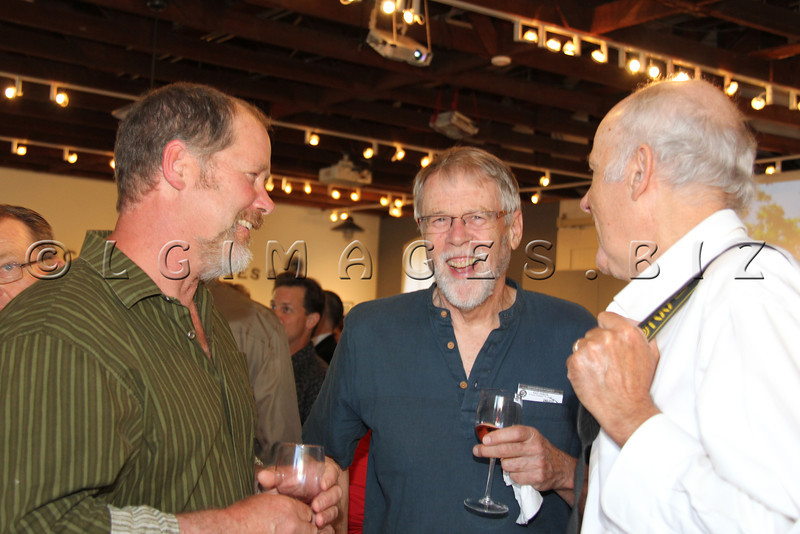 Edwin Hamilton, Robert Bailey and Scott Hess enjoy the evening during Arts D'Light held at The Petalma Arts Center on Saturday June 10, 2012.