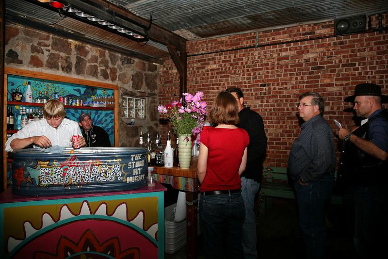 Lucas running the Courtyard bar