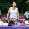 Beth Sarbacker stands at her booth for her company Gypsy Jewels during the Inaugural Ashburnham Lion's Club Community Day on Saturday. SENTIENL & ENTERPRISE/JOHN LOVE