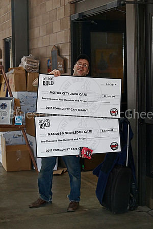 A J O'Neil with some BIG checks
