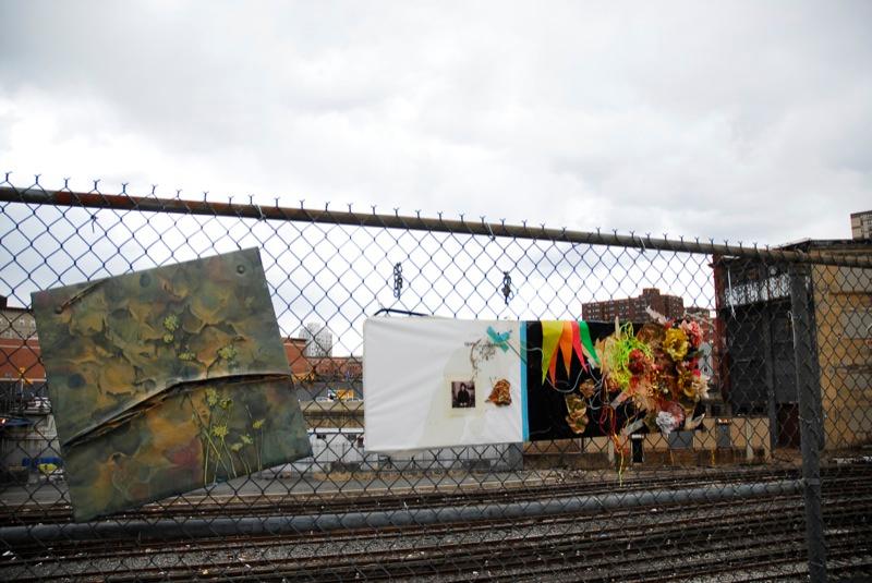 Street art on the fence