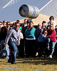 Jason Ingargiola, of Harwell, MA, competes in a beer keg tossing event, during the 13th Annual Oktoberfest, hosted by Attitash Ski Area, in Bartlett, NH, on October 9th & 10th, 2010.
