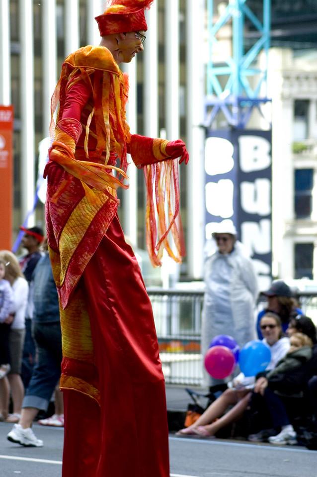 Tall walker Santa Parade Auckland New Zealand - 27 Nov 2005