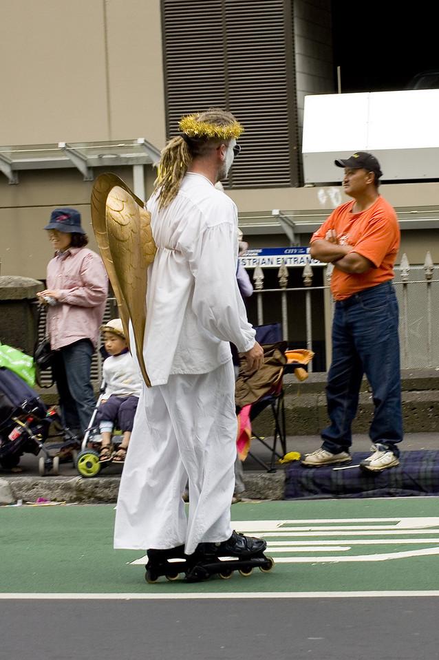 Angel on skates Santa Parade Auckland New Zealand - 27 Nov 2005