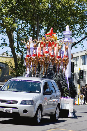 Rudolf and his mates Santa Parade Auckland  New Zealand - 27 Nov 2005