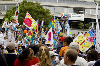 Flags Santa Parade Auckland New Zealand - 27 Nov 2005