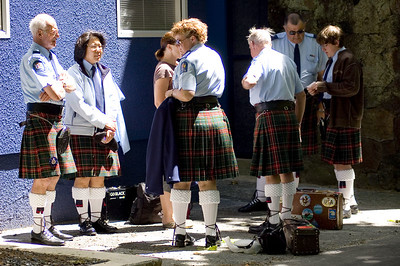 The scottish contingent Santa Parade Auckland  New Zealand - 27 Nov 2005