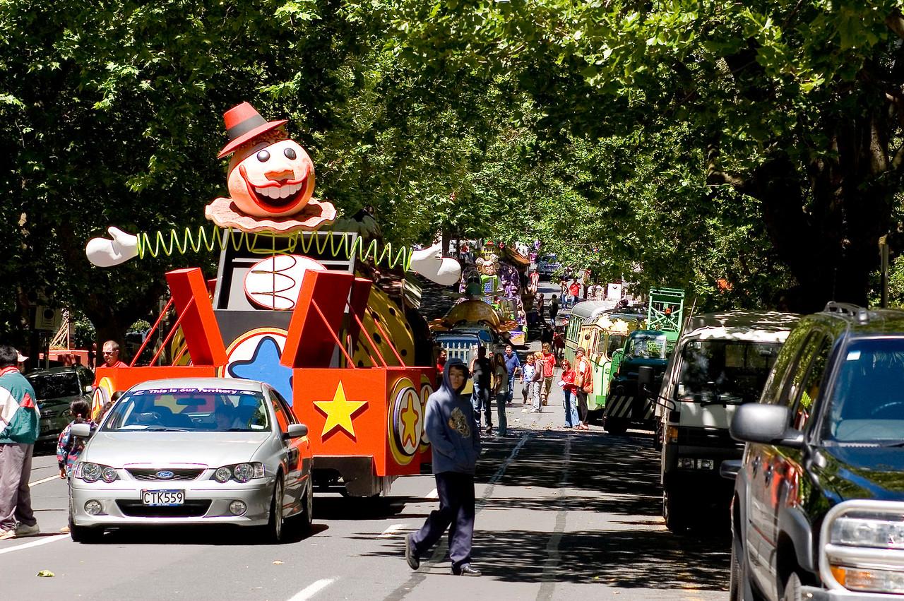 Jack in the box Santa Parade Auckland  New Zealand - 27 Nov 2005
