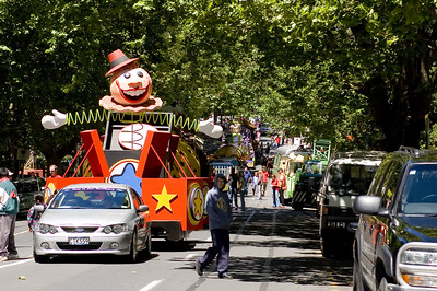 Jack in the box Santa Parade Auckland  New Zealand - 27 Nov 2005