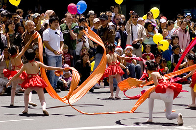 Ribbon dance Santa Parade Auckland New Zealand - 27 Nov 2005