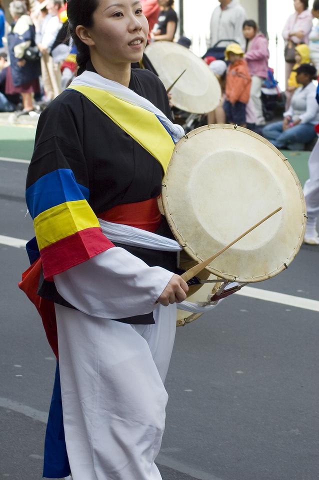 Drummer Santa Parade Auckland New Zealand - 27 Nov 2005