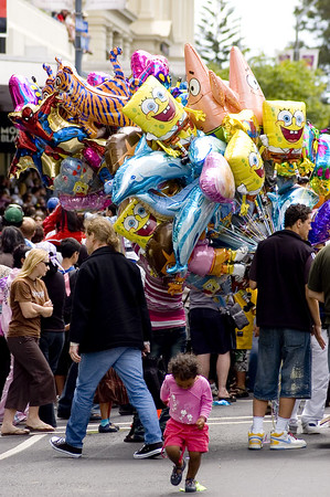 Balloon stand Santa Parade Auckland New Zealand - 27 Nov 2005