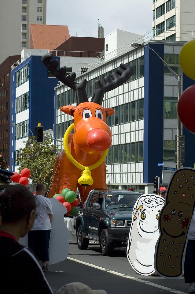 Rudolf the reindeer Santa Parade Auckland New Zealand - 27 Nov 2005