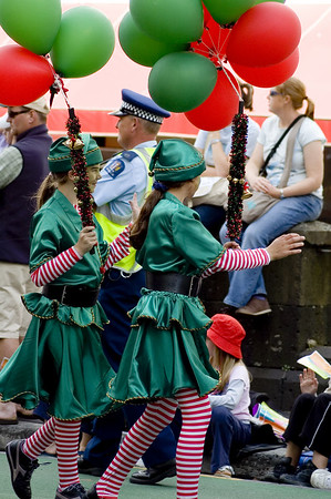 Irish pixies Santa Parade Auckland New Zealand - 27 Nov 2005