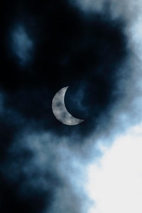 Partial solar eclipse.