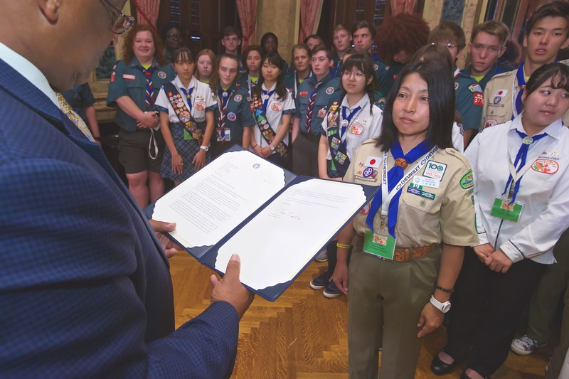 August 01, 2019 - Baltimore-Kawasaki Boy Scouts Visit to City Hall