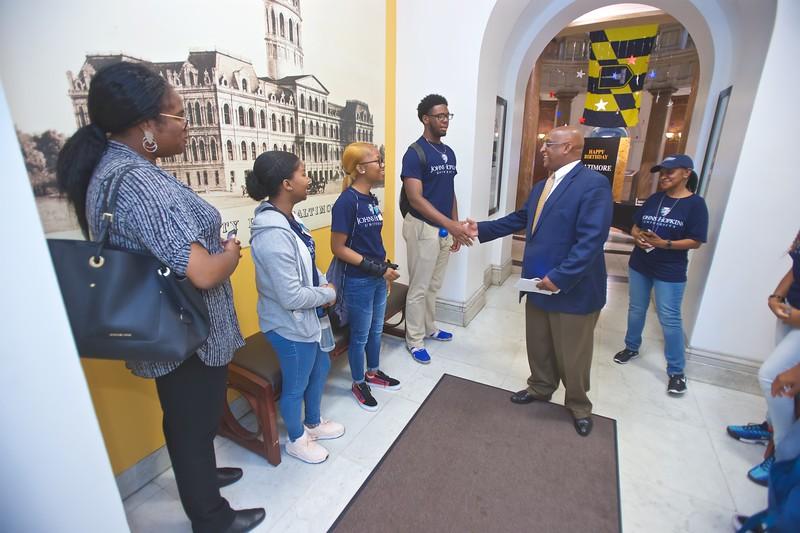 August 01, 2019 - Johns Hopkins YouthWorks City Hall Visit
