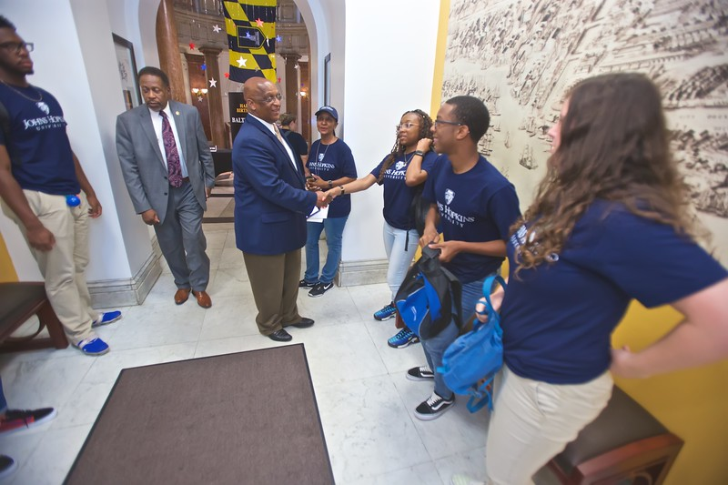 August 01, 2019 - Johns Hopkins YouthWorks City Hall Visit