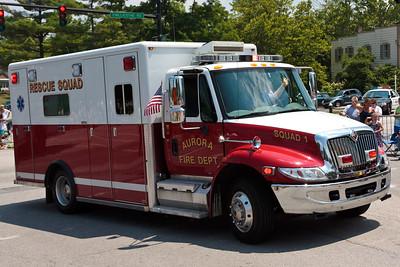 Auora Fire Dept Rescue Squad #1 @ Aurora 4th of July Parade (2010)