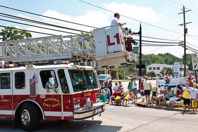 Auora Fire Dept Ladder #1 @ Aurora 4th of July Parade (2010)