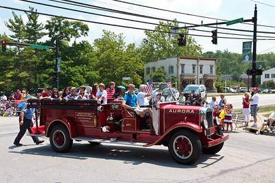 Aurora Fire Dept Engine #1 @ Aurora 4th of July Parade (2010)