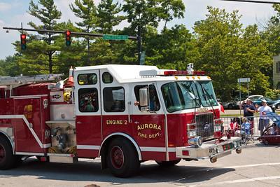 Auora Fire Dept Engine #2 @ Aurora 4th of July Parade (2010)