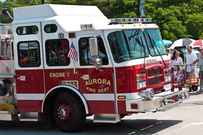 Auora Fire Dept Engine #1 @ Aurora 4th of July Parade (2010)