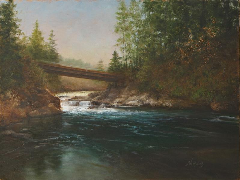 Crossing Dugan Falls