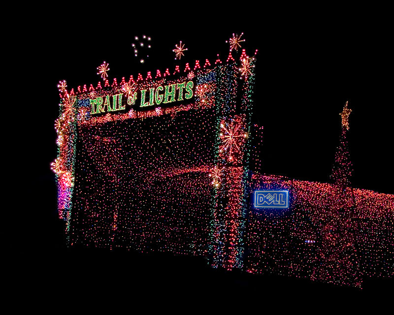 The Trail of Lights entrance (Austin, Texas, 19 Dec 05).
